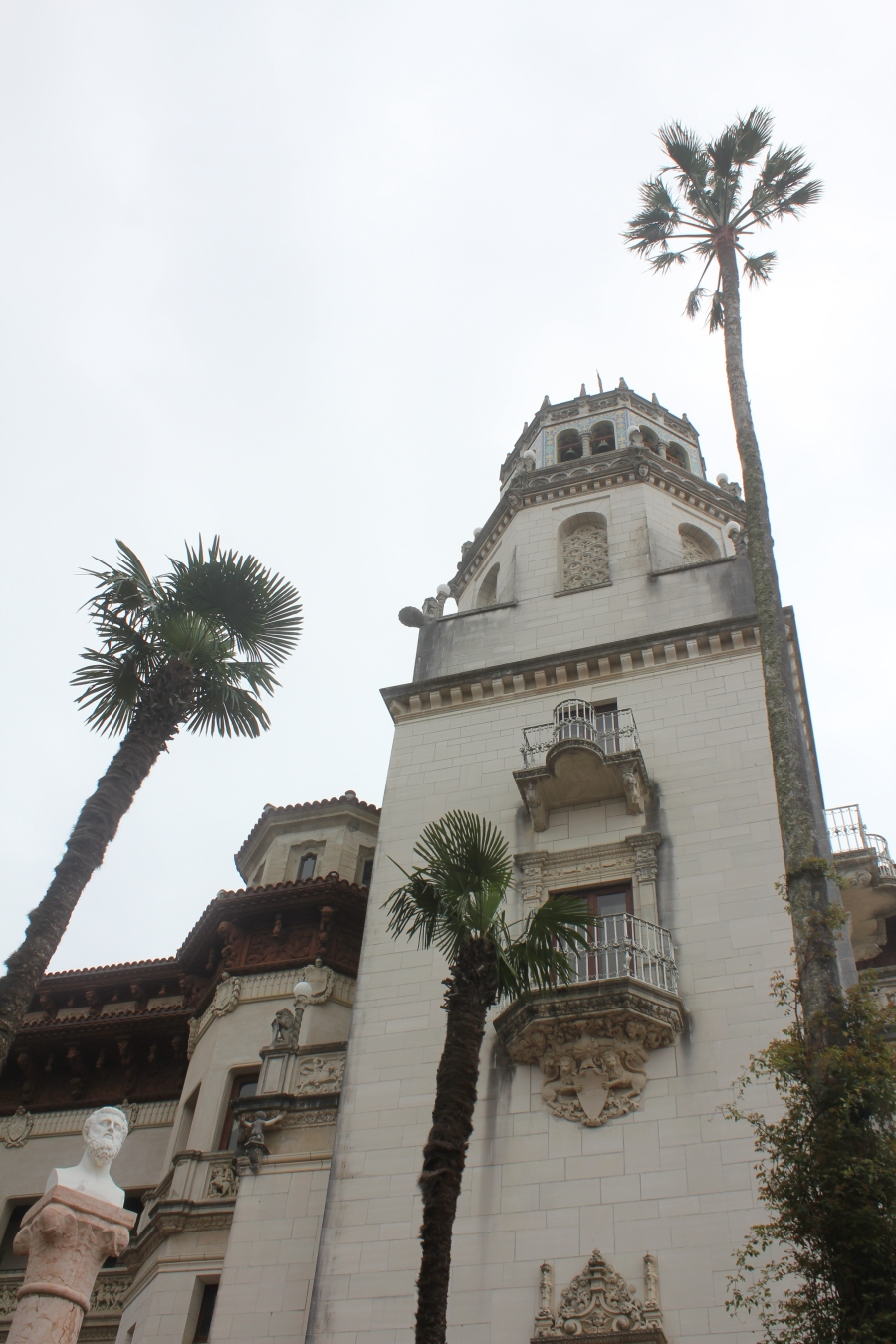 Hearst tower with palms