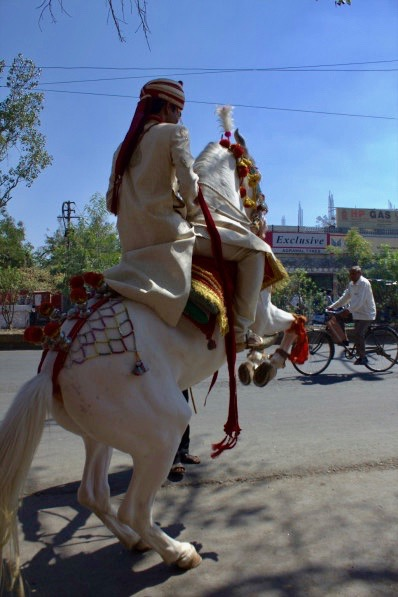 Milind on Horseback