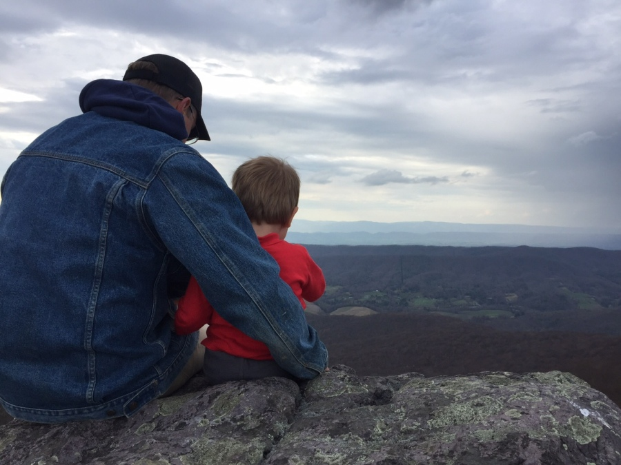 Opa and K on Buzzard Rock
